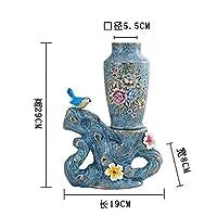 像ヨーロッパスタイルのレトロな鳥の花瓶工芸品ホームオフィスレストランデスクトップ装飾結婚式の装飾