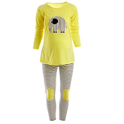 Schlafanzüge für Schwangere Stillpyjama Damen Umstandspyjama Stillschlafanzug Zweiteilige Umstandsschlafanzug Hausanzug/XL