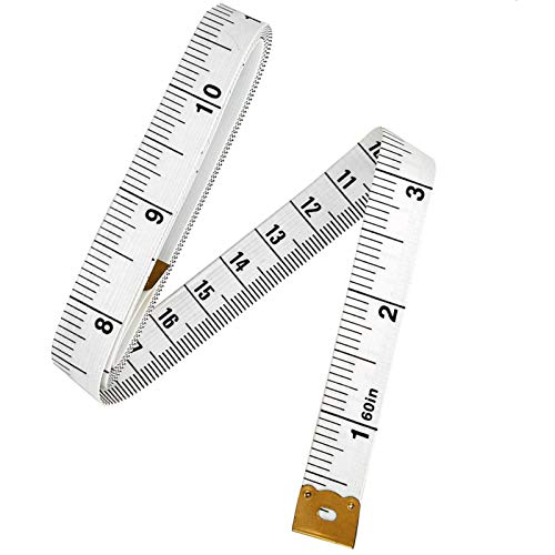 2Pcs 1.5M Soft Tape Measure for Sewing, 60 Inches Sewing Tailor Cloth Ruler, Double Scale Body Medical Measurement Tape for Weight Loss, by Meiho Lives
