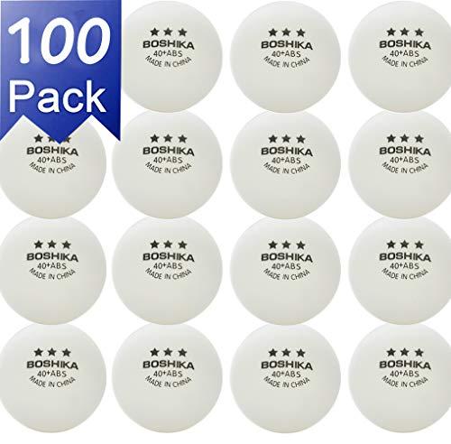 NXY Paquete de 100 3 Estrellas 40+ Tenis de Mesa Pelotas Práctica Avanzado Ping Pong Bola Blanco