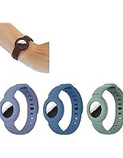 3 Stks Band Armband Siliconen Beschermhoes voor Apple Airtag, GPS Kinderen Anti-verloren Horloge Band Locator Tracker Polsbandje