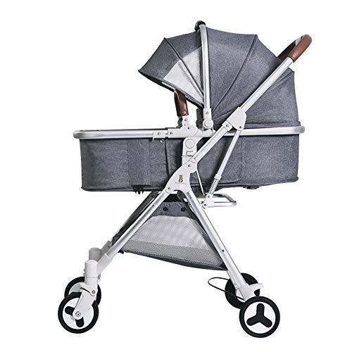 Poussette canne bébé légère et Pratique pour Les bébés et Les Tout-Petits, Poussette Parapluie Pliante compacte, accoudoir/siège inclinable/Poussette Haute