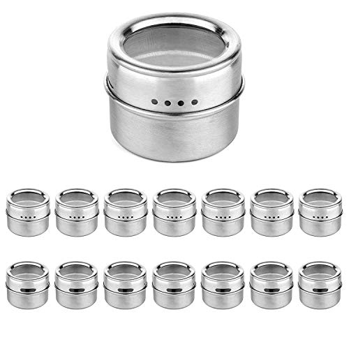Best Quality Magnetic Spice Jar with A Strong Transparent Cover. Stainless Steel, Big Container Box - Strong Sucker, C M Shapes, Tape Strong, Strong Glue Plastic, Strong Waterproof Glue