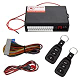 Vankcp Car Central Lock, Keyless Entry Alarm System, Auto Remote Central Kit Vehicle Door Lock with 2 Remote Controllers