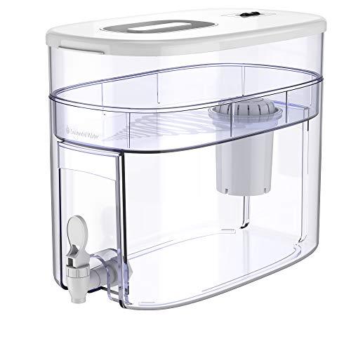 pH RECHARGE 1F - Distributeur d'eau filtrée à 1 filtre - alcalinisant/ionisant - purifie/adoucit/apporte des minéraux/élimine chlore et polluants/augmente le pH - avec robinet - sans BPA - 12,5 l