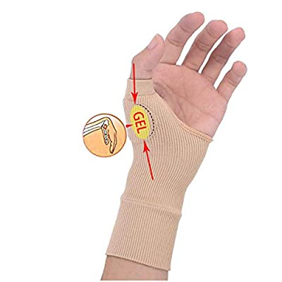 RARITYUS Gel Silicon Hand Wrist Support Brace Therapy Gloves Arthritis Compression for Women and Men
