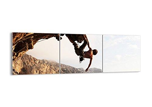 Quadro su Vetro - Tre 3 Tele - Larghezza: 150cm, Altezza: 50cm - Numero dell'immagine 2784 - Pronto da Appendere - Elementi Multipli - Arte Digitale - Moderno - Quadro in Vetro - GCA150x50-2784