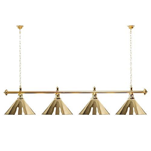 Billardlampe 4 Schirme Gold/Goldfarbene Halterung