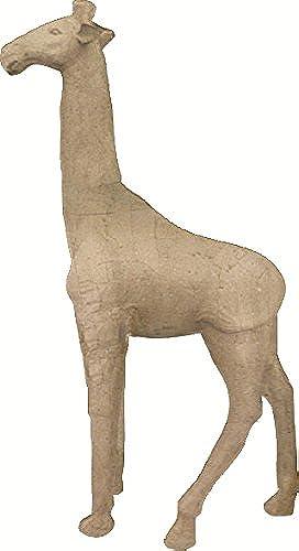 Décopatch XLA01O Tr r XL aus Pappmaché, Giraffe in 3D, 80 x 35 x 16cm  , zum Verzieren, Kartonbraun
