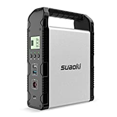 【SMALLER SHAPE, BIGGER ABILITY】: SUAOKI S200 lithium-ion portable generator 200Wh (54,000mAh/3.7V or 18,000mAh/11.1V) provides efficient pure sinewave power supply to meet your indoor outdoor demands. Ultra-compact size keeps large capacity and diver...