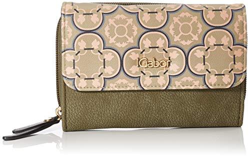 Gabor Portemonnaie Damen Lilo, Grün (Khaki), 20x10.5x2.5 cm, Gabor Geldbeutel Damen