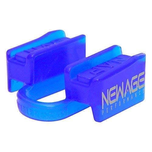 New Age Performance 6DS Sport und Fitness Gewichtheben Mundstück Unterkiefer ohne Kontakt inkl. Etui blau