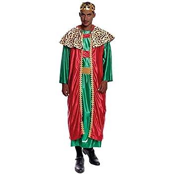 Disfraz Rey Mago Baltasar hombre adulto para Navidad M: Amazon.es ...