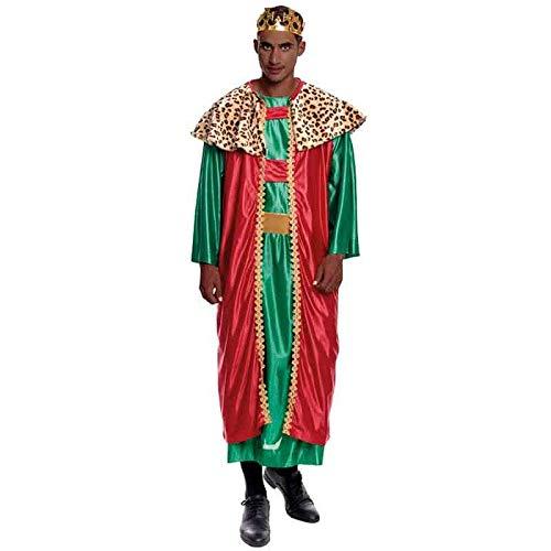 Partilandia Disfraz Rey Mago Baltasar Hombre Adulto para Navidad M