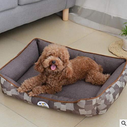 Hundekissen Hundematte Hundebett Hundebett Atmungsaktive Mechanische Wäsche Erwärmung Hundehütte Für Hunde Katzen Anti-Rutsch-Boden Weiches Material Nest Hundekörbe 50X40Cmless3Kg