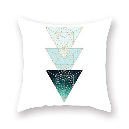 Teisyouhu - Funda de almohada geométrica, 18 x 18 cm, color azul, regalo para sofá o coche, funda de cojín para decoración del hogar, almohada Holliday, regalo