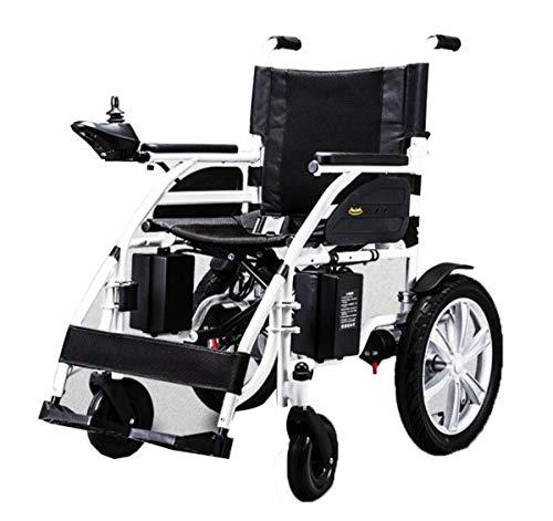 BYCDD Silla de Ruedas para una fácil Transferencia, Silla de Ruedas Plegable Ligera Dual Potencia del Motor para sillas de Ruedas Plegable Eléctrica Power Chair,Black