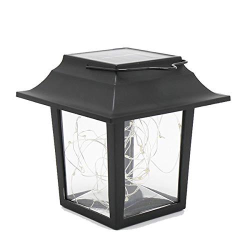 Soapow Luz solar colgante con iluminación de estaca lámpara de césped para jardín al aire libre Patio colgante linterna Solar cadena luces