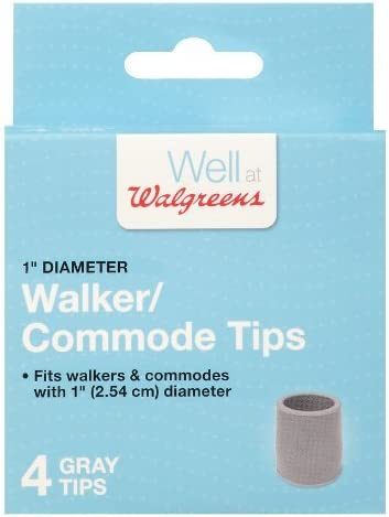 Walgreens Walker Commode Tips 1 Max 66% OFF inch 4.0 Gray Pack Choice of ea