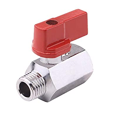 """DERNORD Brass Mini Ball Valve NPT Thread,Chrome Plated (1/4"""" Female&Male) (Pack of 1) from DERNORD"""