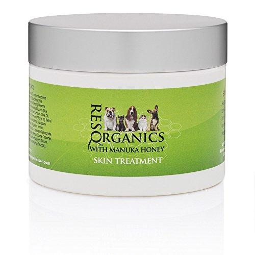 ResQ Organics Pet Skin Treatment 2oz - Nourish and Repair Skin - with Organic Aloe Vera, Manuka Honey, Coconut Oil - For Dry, Irritated and Damaged Skin