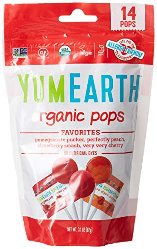 Yummyearth Organic Lollipops Assorted Flavors 3 oz 14 Pops