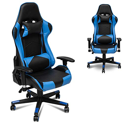 X&T Ergonomic Gaming Chair Racing Style Swivel PC Computer Chair Adjustable Height High Back Office Chair, PU Leather Video Game Chair with Headrest and Lumbar Pillow