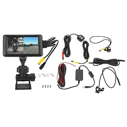 """Motorrad Dash Cam, Motorrad Video Driving Recorder Kamera 1080P vorne hinten Dual Lens Nachtsicht Wasserdichte Rückansicht Sport Action Kamera mit 1080P HD 3\""""LCD"""