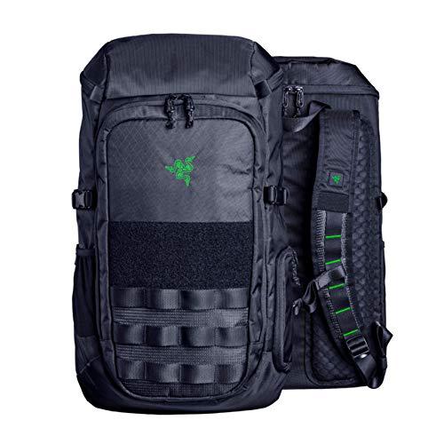 "Razer Tactical v2 15"" Laptop Backpack: Tear & Water Resistant Exterior - Scratch-Proof Interior - Fits 15 inch Laptops - Black"