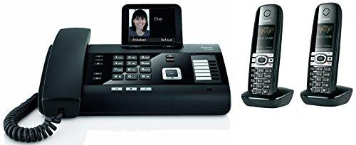Siemens Gigaset DL500A SET mit 2x C610H Mobilteil - analog, Anrufbeantworter, Bluetooth® ECO DECT, schwarz