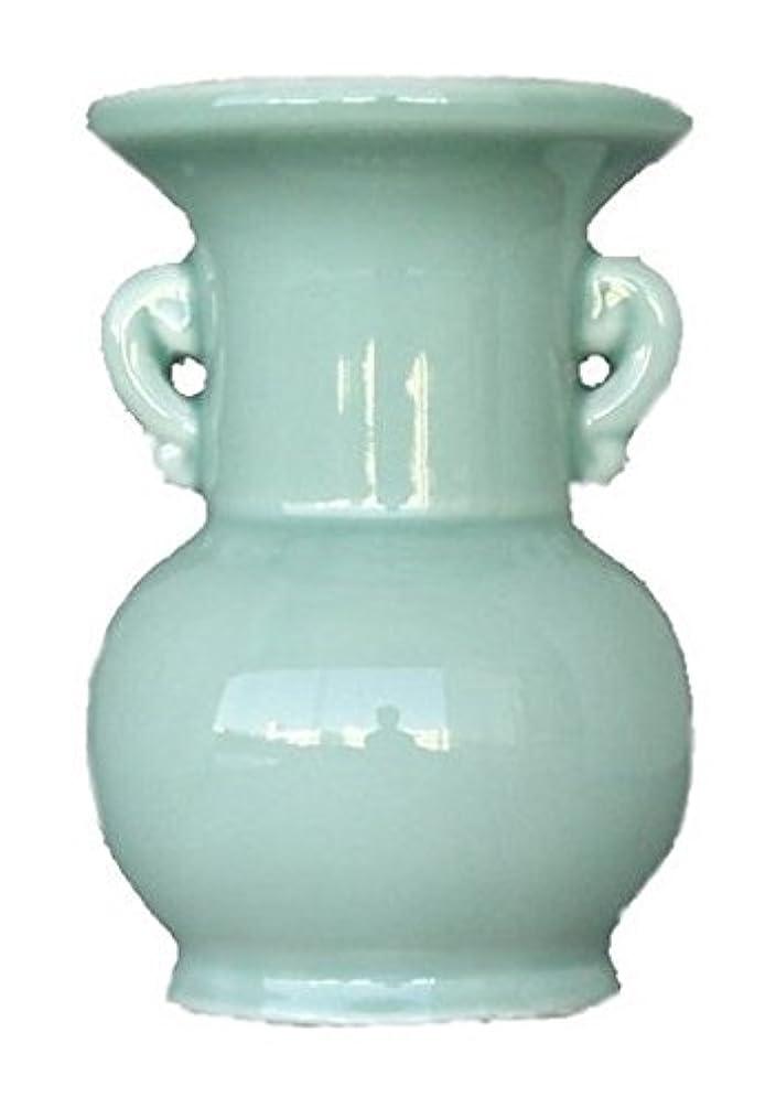 素敵な著作権脅威仏具用 花瓶 青 大 4寸