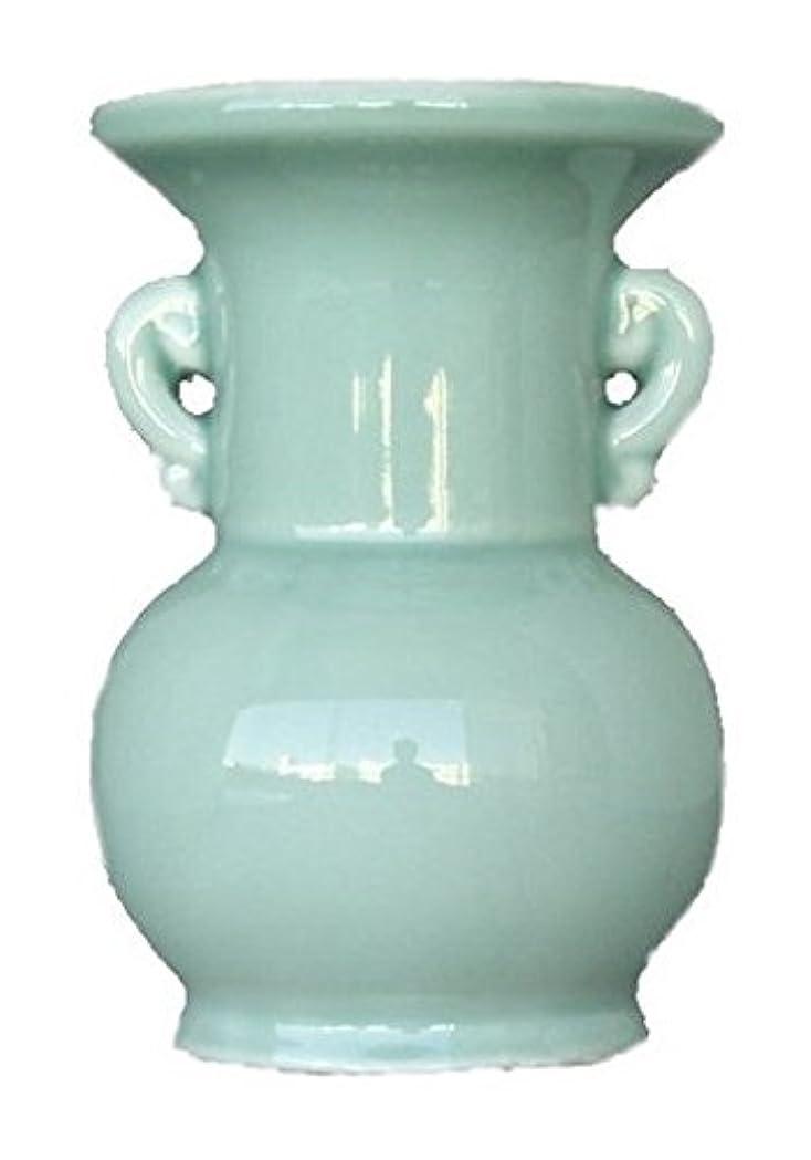 聴覚強化する造船仏具用 花瓶 青 大 4寸