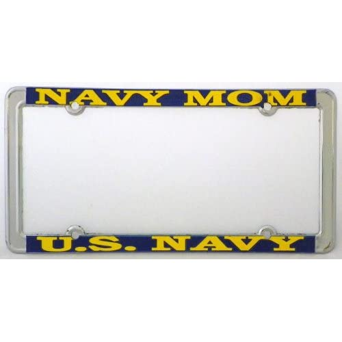 PROUD NAVY FAMILY METAL MILITARY License Plate Frame Tag Holder