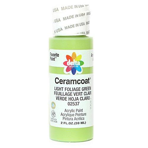 Plaid:Delta Ceramcoat Acrylique Peinture 2 onces-Light Feuillage Vert/Opaque