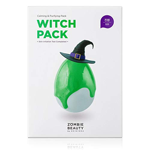 SKIN1004 Witch Pack Face Mask 8ea, Creamy Mud Pack with Green Tea, Water Calming Purifying Pore Care