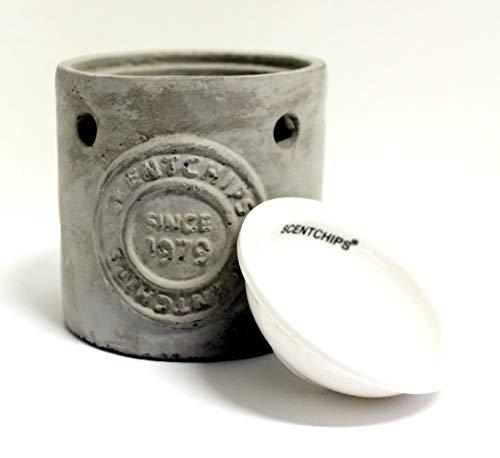 Feste Feiern Aromalampe Duftlampe Scentchips Waschbeton Logo 1979 Grau Weiß Unikat Duftwachs Duftöl Wax Tards Teelichte Diffusor