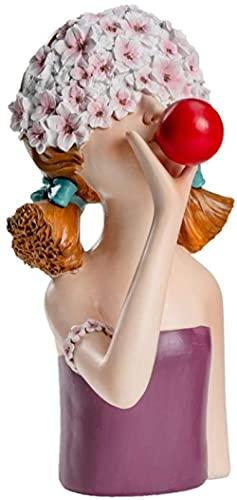 Scultura Statua Creativa Semplice Astratta Artigianato Figurina Statua Animale Ornamenti Colpo Bolle Fiori Ragazza Resina Mestiere Decorazione Della Casa