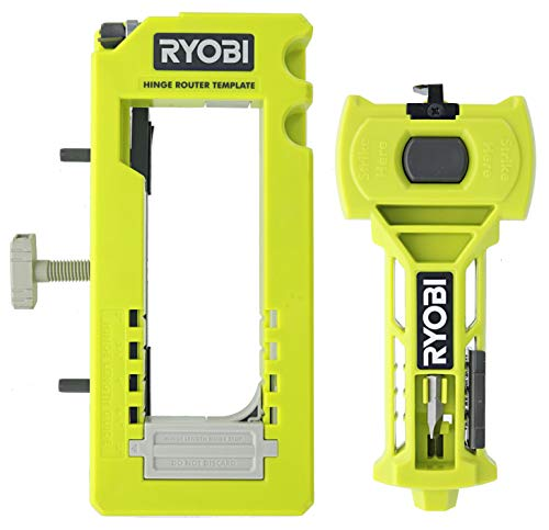 Ryobi A99HT3 Door Hinge Installation Kit/Mortiser Template Bundled with Ryobi A99LM2 Door Latch Installation Kit for Accurate Chiseling and Scoring