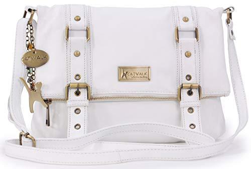 Catwalk Collection Handbags - Leder - Umhängetasche - ABBEY ROAD - Weiß