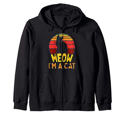 Miau Soy Un Gato Halloween Sudadera con Capucha