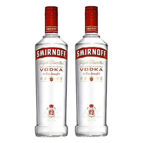 Smirnoff Red No. 21 Premium Vodka Triple Destilled, 2er, Wodka, Alkohol, Alkoholgetränk, Flasche, 37.5%, 700 ml, 708274