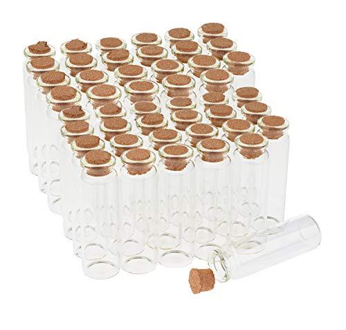 VBS Großhandelspackung 48er-Pack Glasflaschen mit Korken 20ml Glasröhrchen