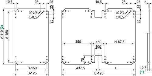 Schneider Electric NSYPMB55 Placa de Montaje Aislante de Baquelita para Armario PLA, Al 500X An500mm