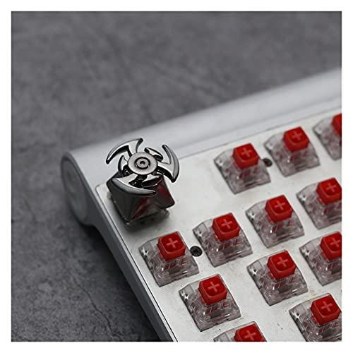 FATEGGS Conjunto de Llaves 1 Unids Metal Spinning Top Personalizado Keycap Cherry Kailh Interruptor De Cruz Universal Un Solo Teclado para El Teclado Mecánico KeyCaps Lindos (Color : Gray Top)