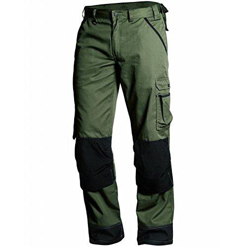 Tuin werkbroek Armygroen, C58, Militaire Vert/Noir