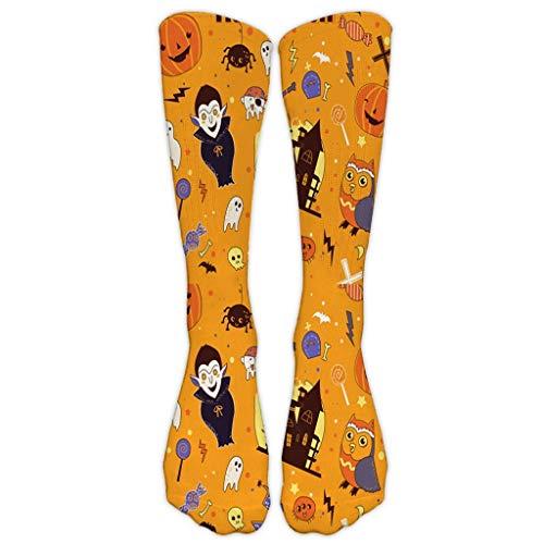Akaide Socken für Herren und Damen, hohe enge Wintersocken für Freizeit, Arbeit, Business, 3D, Halloween-Druck, mittelgroß, Sport, warm, langlebig, Strümpfe Gr. Einheitsgröße, B