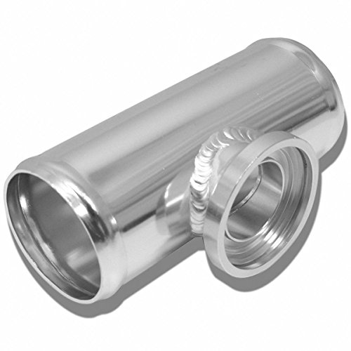"DNA MOTORING FP-H250 2.5"" Turbo Blow Off Valve Aluminum Flange Adapter Pipe For Type-SQV Bov, White"