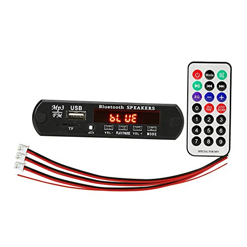 gazechimp 12V Coche Bluetooth MP3 WMA FM AUX Placa Decodificadora Módulo de Audio Tarjeta USB TF