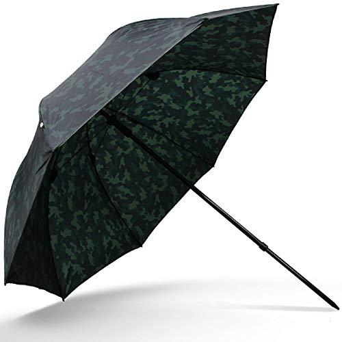 G8DS® 45er Schirm Angelschirm Camouflage Brolly Angelausrüstung Karpfenangeln