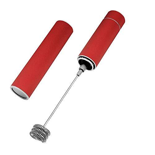 WXYLYF Milchaufschäumer-Doppel Rührkopf, Handheld batteriebetriebene Elektroschaummaschine, geeignet für Latte, Cappuccino, heiße Schokolade, Moderne Getränkemixer